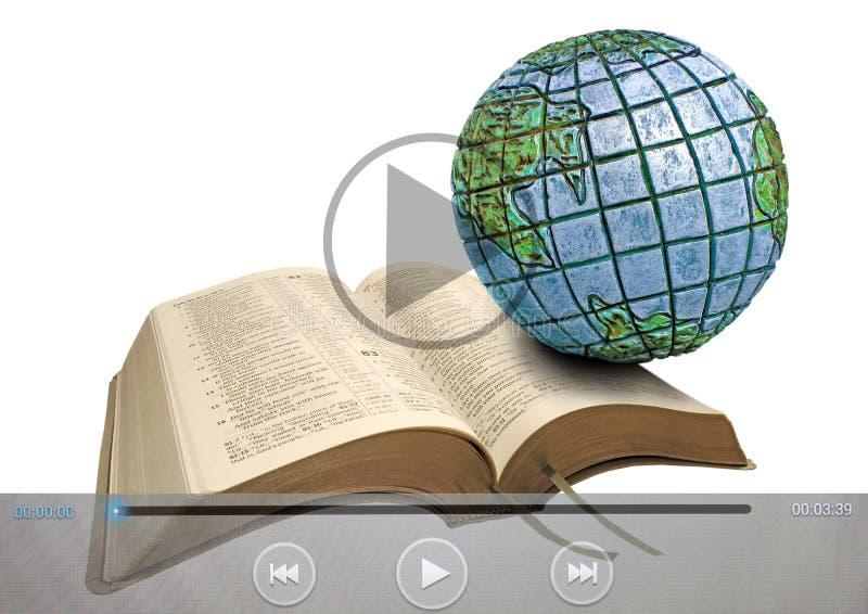 Icônes de prédication globales de clip vidéo de bible illustration de vecteur