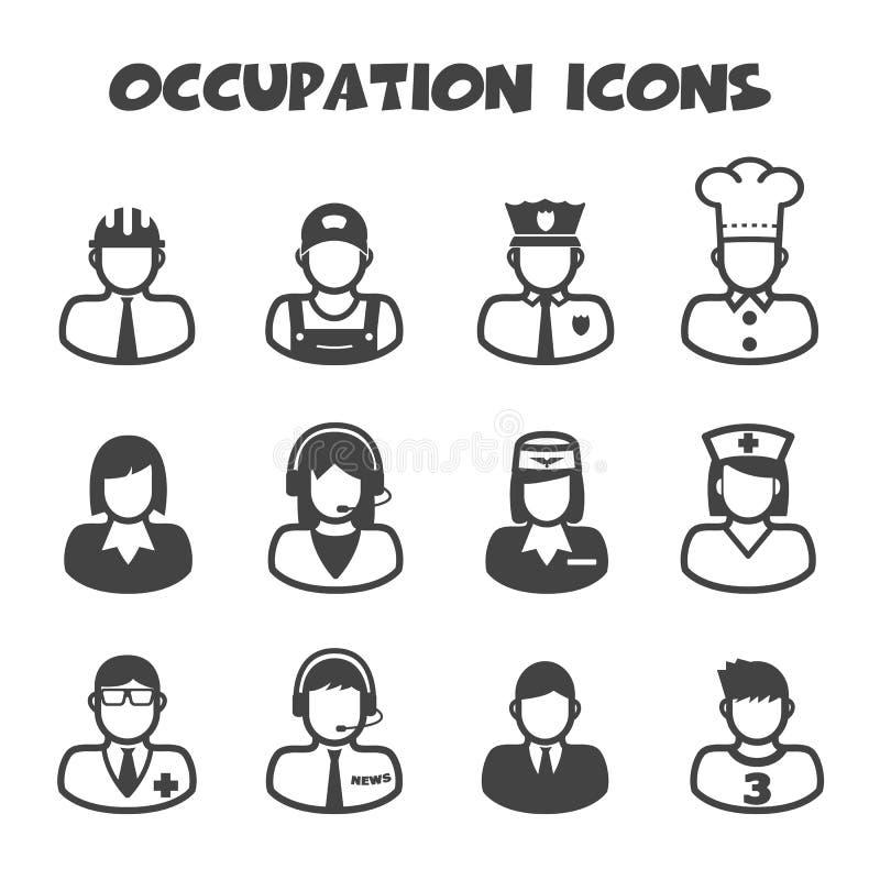 Icônes de profession illustration de vecteur