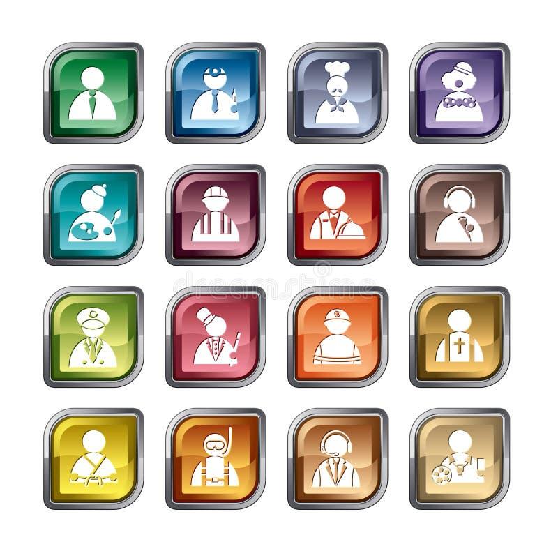 Icônes de profession illustration stock