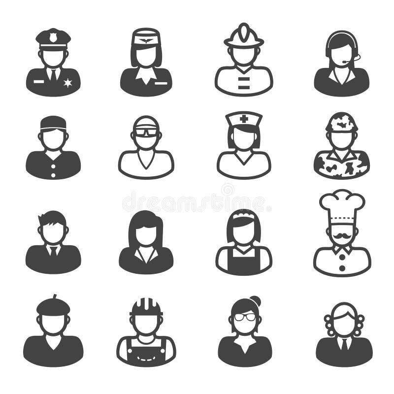 Icônes de profession de personnes illustration stock