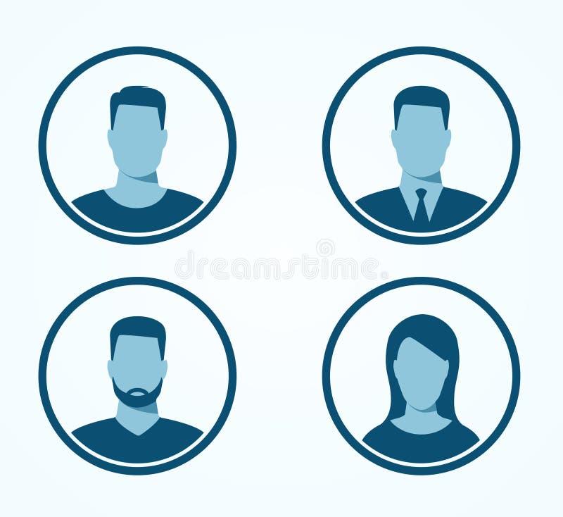Icônes de profil illustration libre de droits