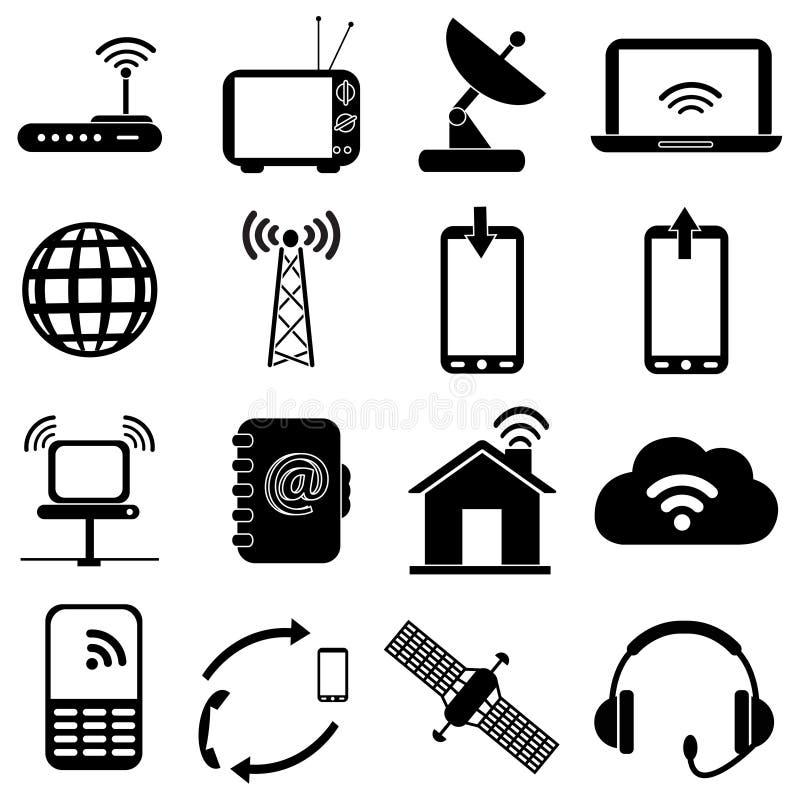 Icônes de réseau sans fil réglées illustration libre de droits