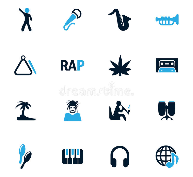 Icônes de rap réglées illustration libre de droits