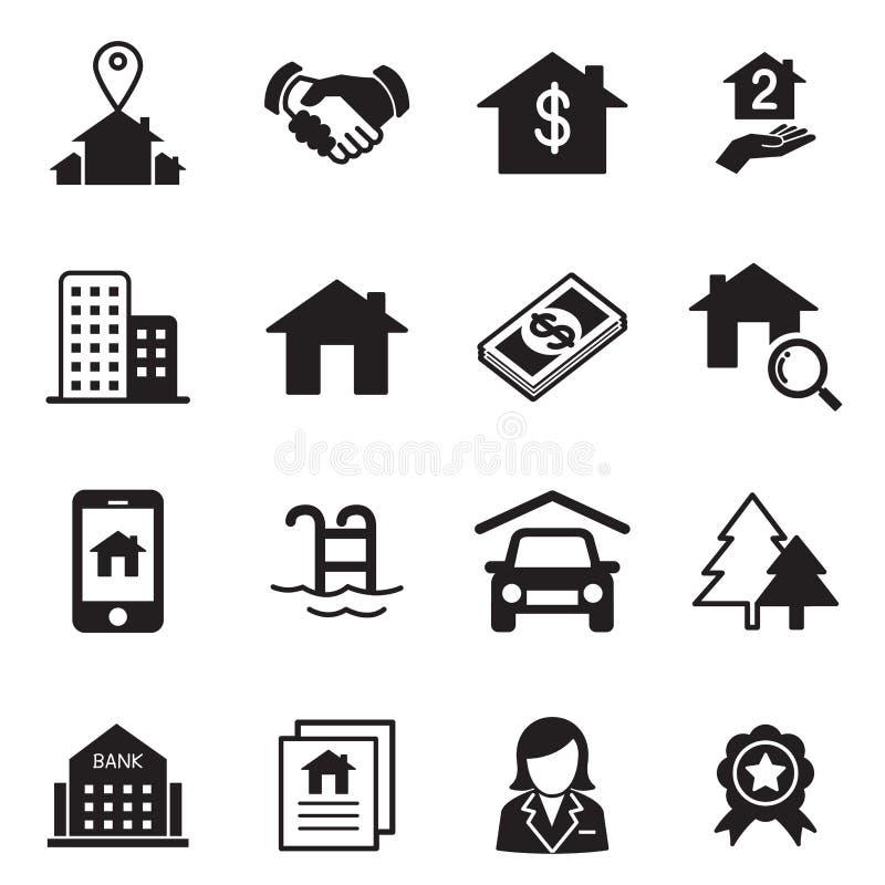 Icônes de Real Estate illustration stock