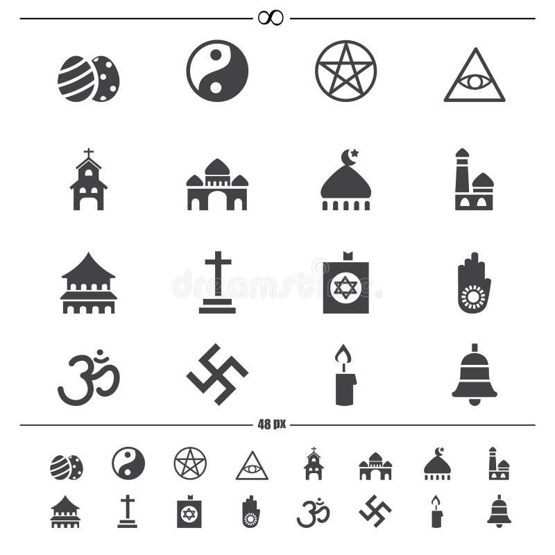 Icônes de religion illustration de vecteur