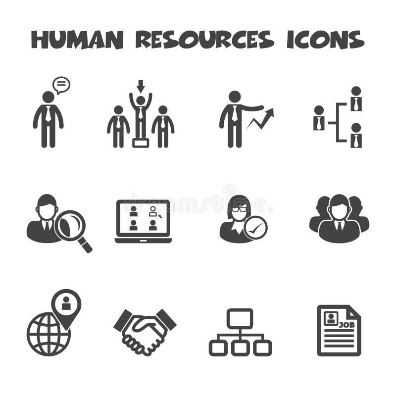 Icônes de ressources humaines illustration de vecteur