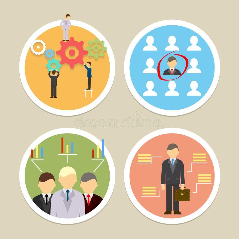 Icônes de ressources humaines de vecteur illustration de vecteur