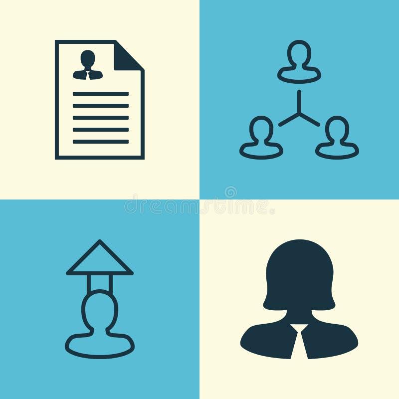 Icônes de ressources réglées Collection de hiérarchie illustration libre de droits