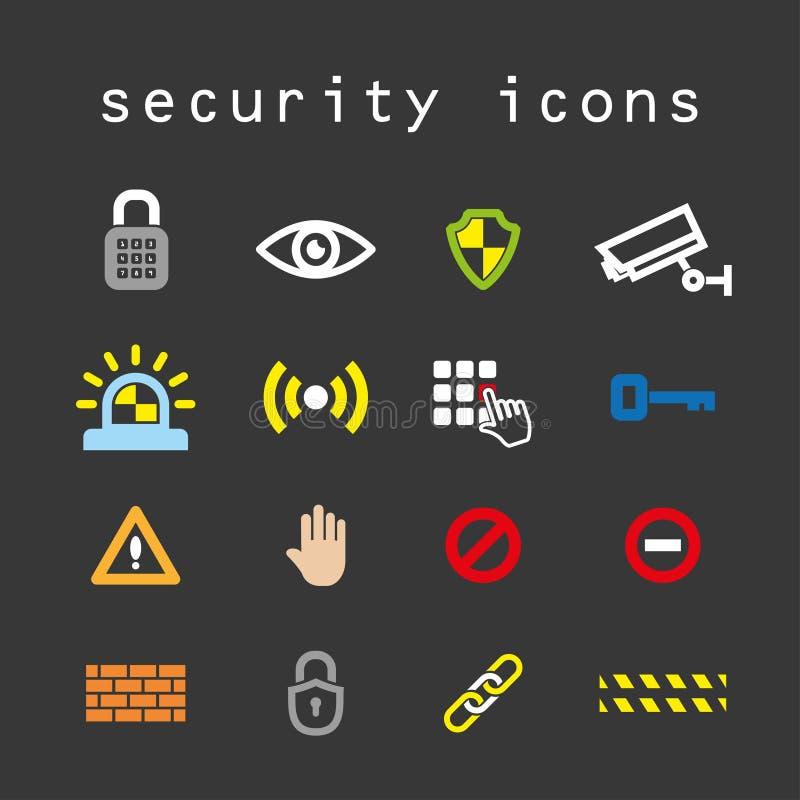 Icônes de sécurité illustration de vecteur