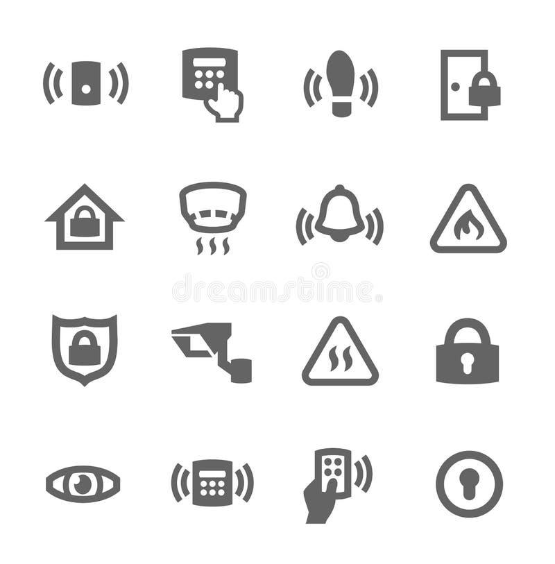 Icônes de sécurité de périmètre illustration libre de droits