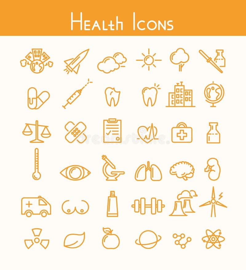 Icônes de santé illustration libre de droits