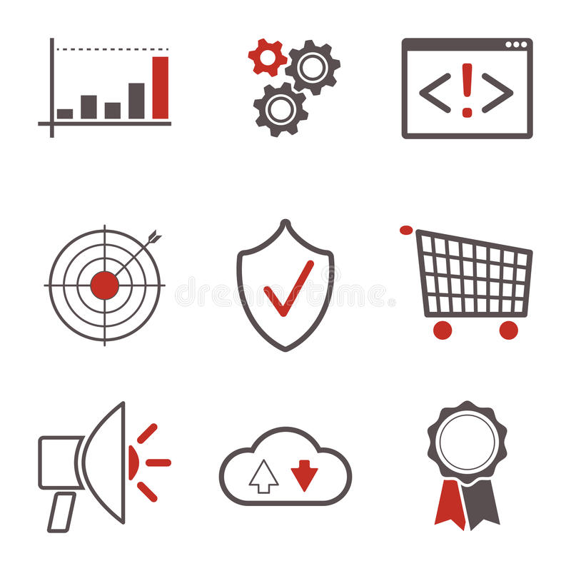 Icônes de SEO illustration stock
