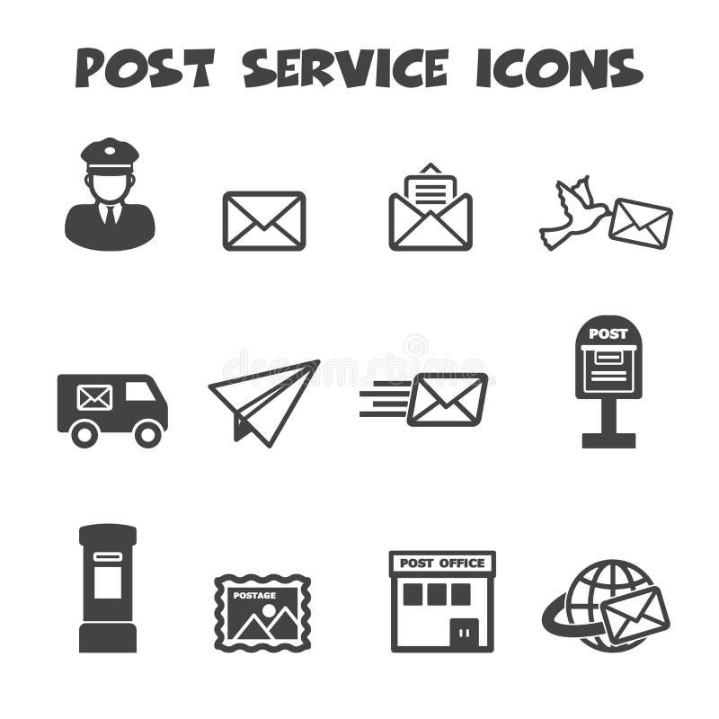 Icônes de service de courrier illustration stock