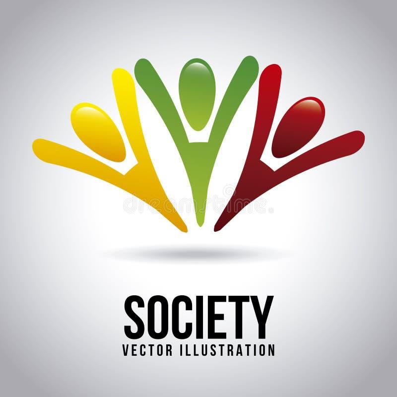 Icônes de société illustration libre de droits