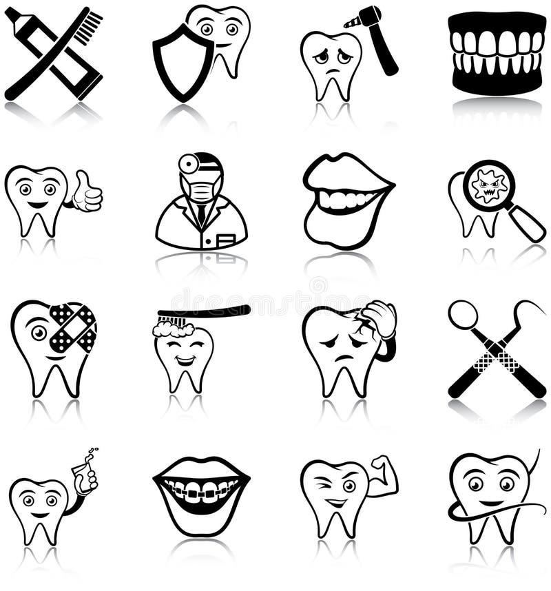 Icônes de soins dentaires illustration stock