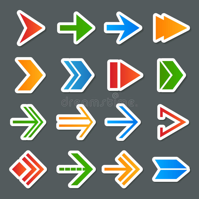Icônes de symboles de flèche réglées illustration libre de droits