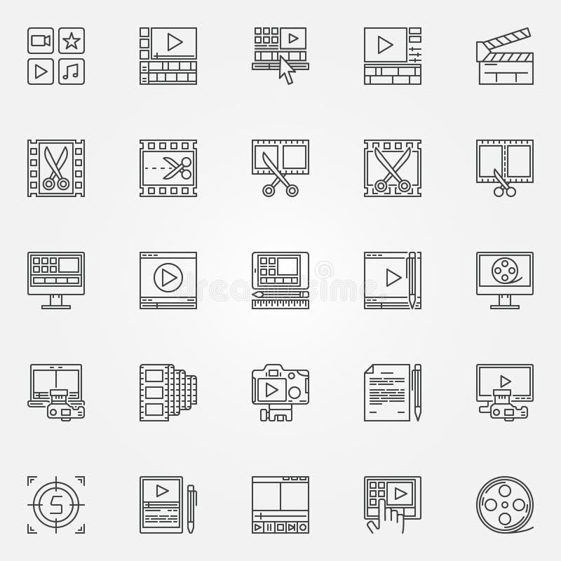 Icônes de table de montage réglées illustration de vecteur