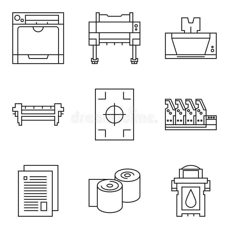 Icônes de technologie de vecteur illustration stock