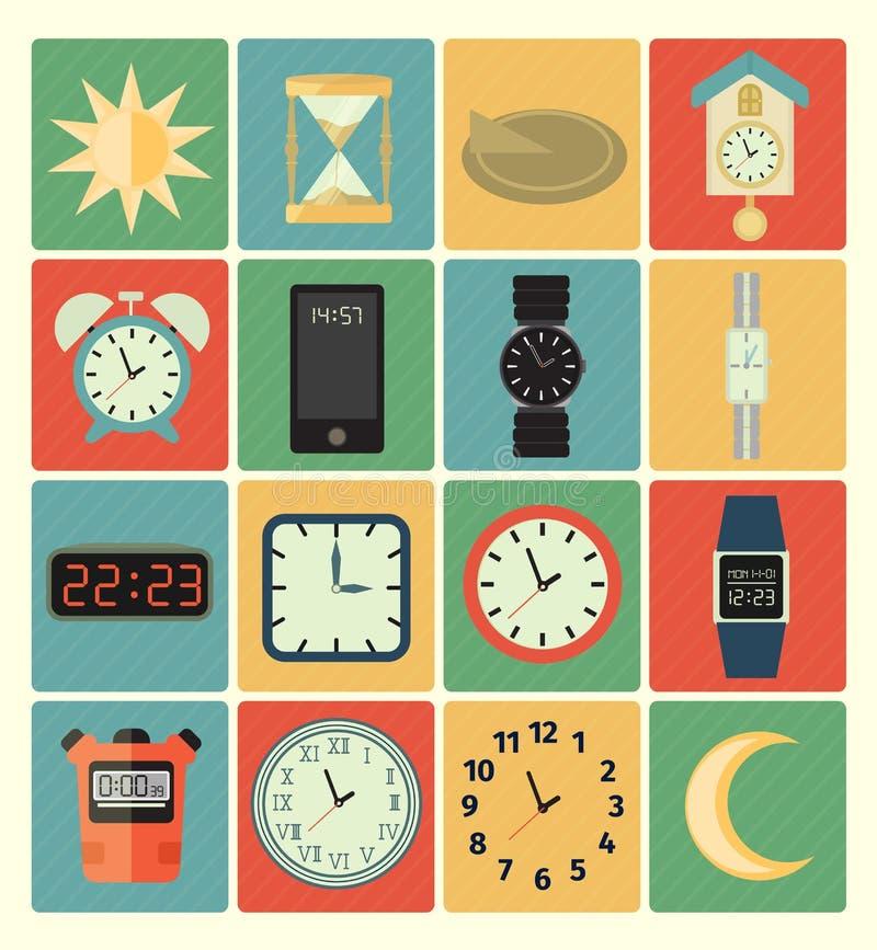 Icônes de temps réglées illustration libre de droits