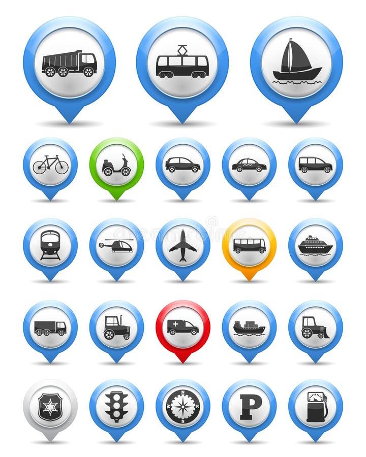Icônes de transport illustration libre de droits