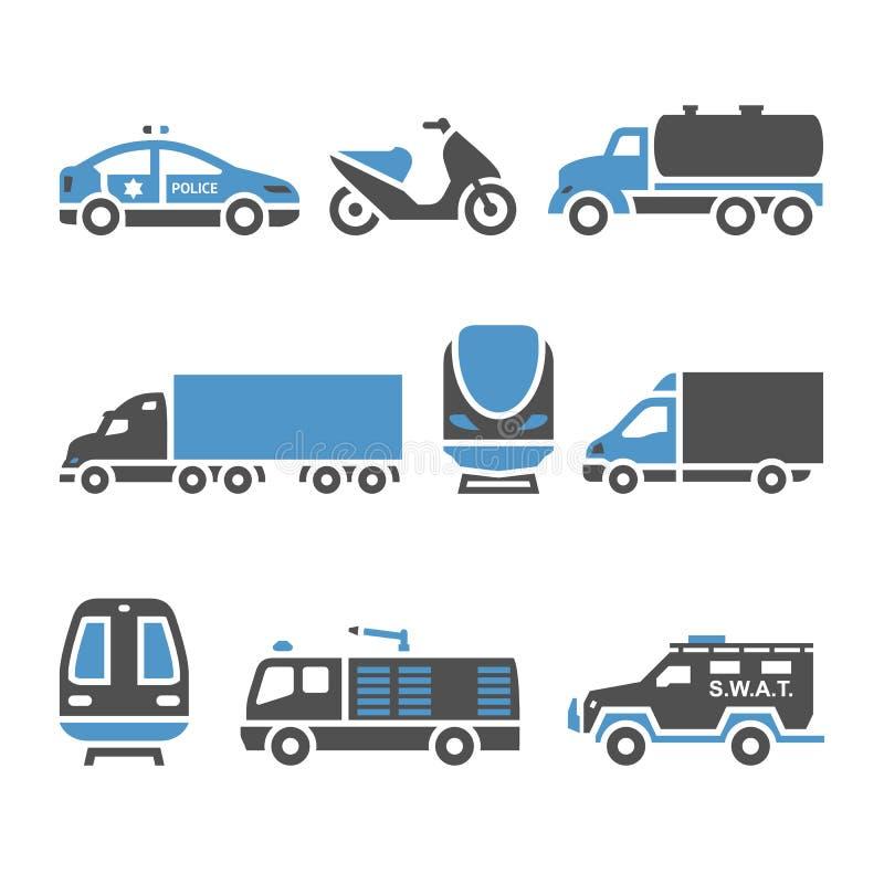 Icônes de transport - un ensemble de huitième illustration de vecteur