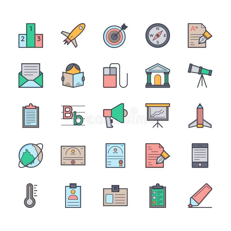 Icônes 5 de vecteur d'éducation illustration libre de droits