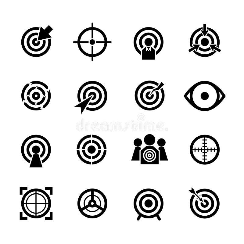 Icônes de vecteur de cible réglées illustration libre de droits