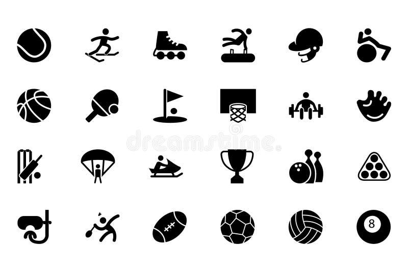 Icônes 1 de vecteur de sports illustration de vecteur