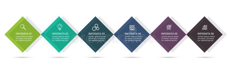 Ic?nes de vecteur et de vente de conception d'Infographic pour le diagramme, le graphique, la pr?sentation et le diagramme rond C illustration stock