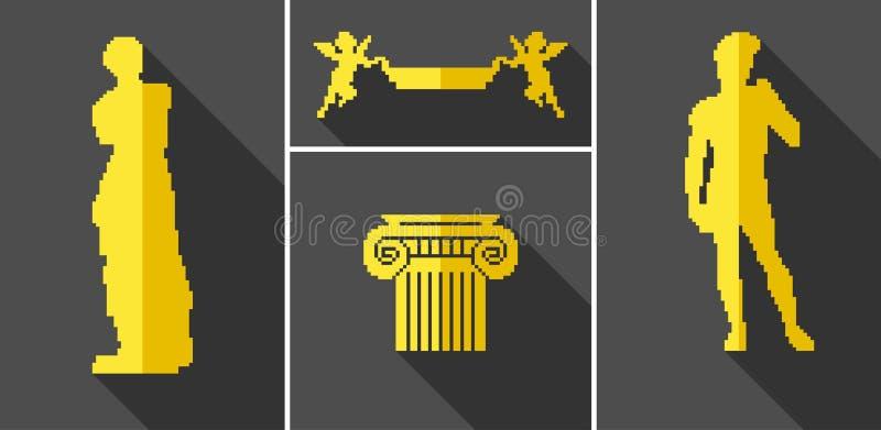 Icônes de vecteur pour la conception illustration de vecteur