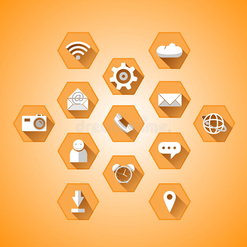 Icônes de vecteur pour le mobile images stock