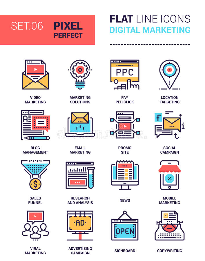 Icônes de vente de Digital illustration de vecteur