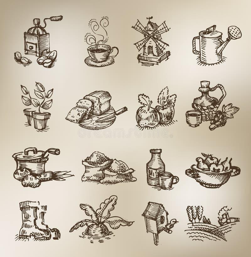 Icônes de vintage illustration de vecteur