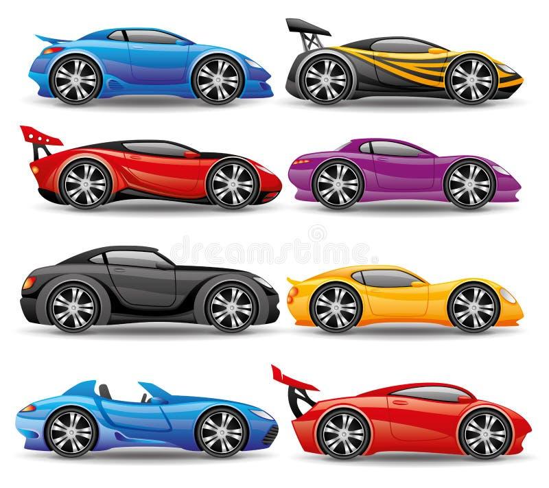 Icônes de voiture illustration de vecteur