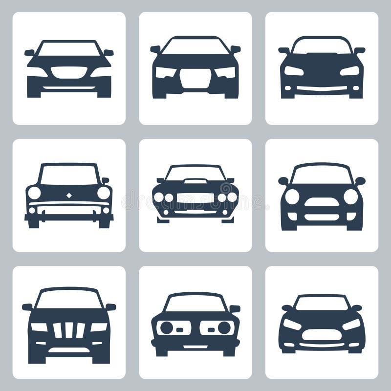 Icônes de voitures de vecteur réglées illustration libre de droits