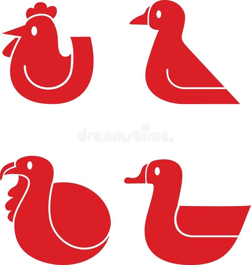 Icônes de volaille illustration libre de droits