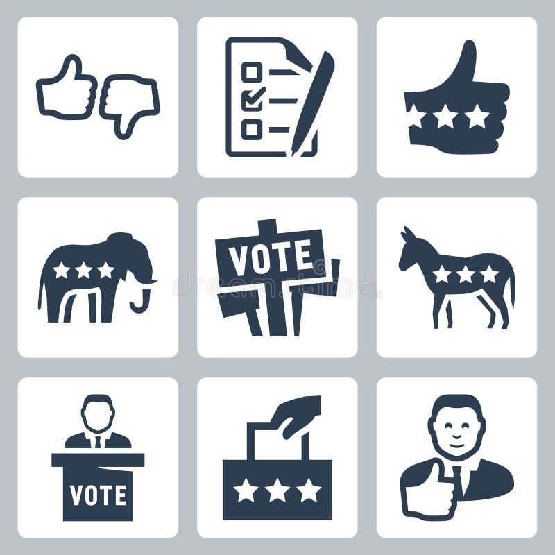 Icônes de vote et de politique de vecteur illustration libre de droits