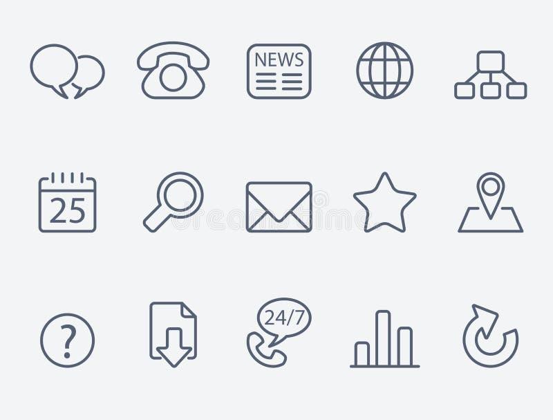 Icônes de Web