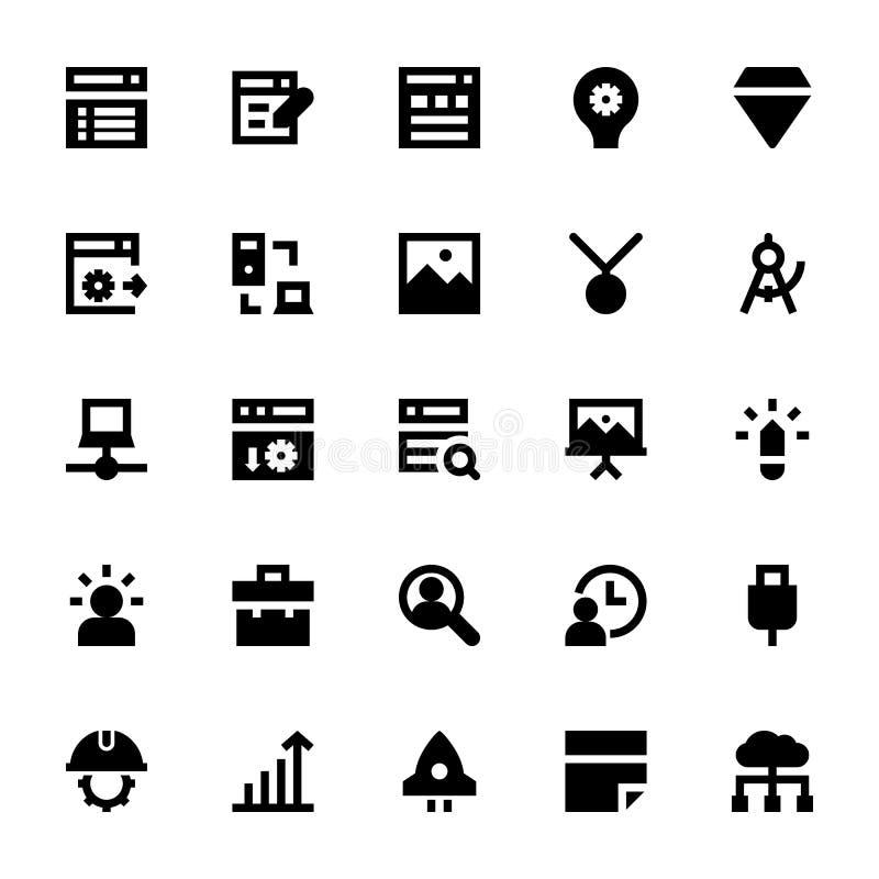 Icônes 4 de web design et de vecteur de développement illustration stock