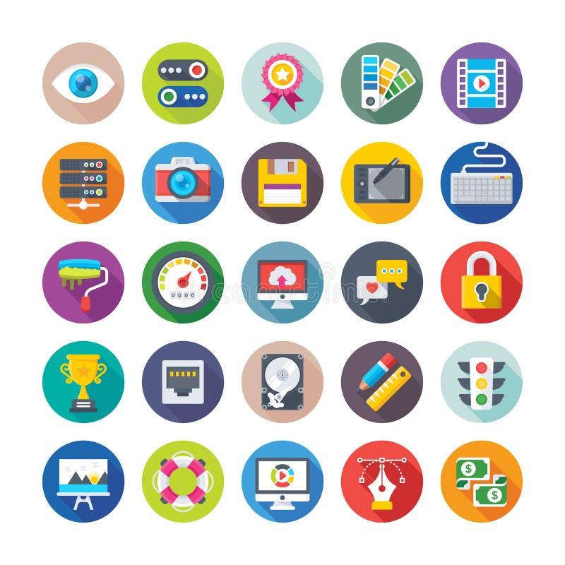 Icônes 1 de web design et de vecteur de développement illustration stock