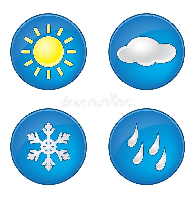 Icônes de Wheather réglées illustration stock