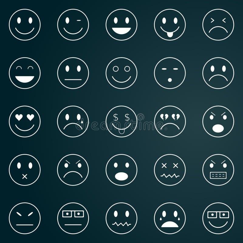 Icônes des visages souriants illustration libre de droits