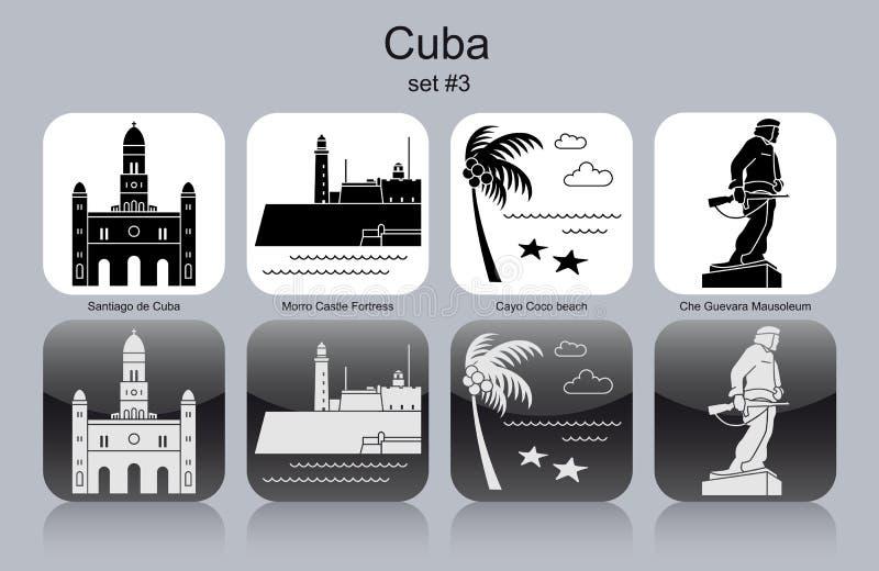 Icônes du Cuba illustration libre de droits