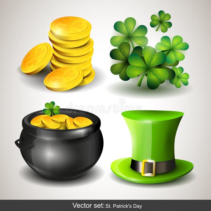 Icônes du jour de St Patrick illustration de vecteur