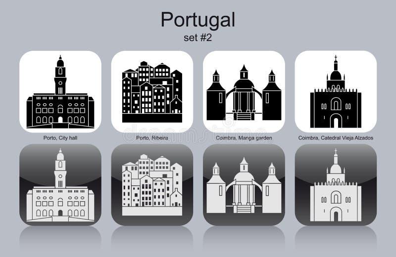 Icônes du Portugal illustration stock