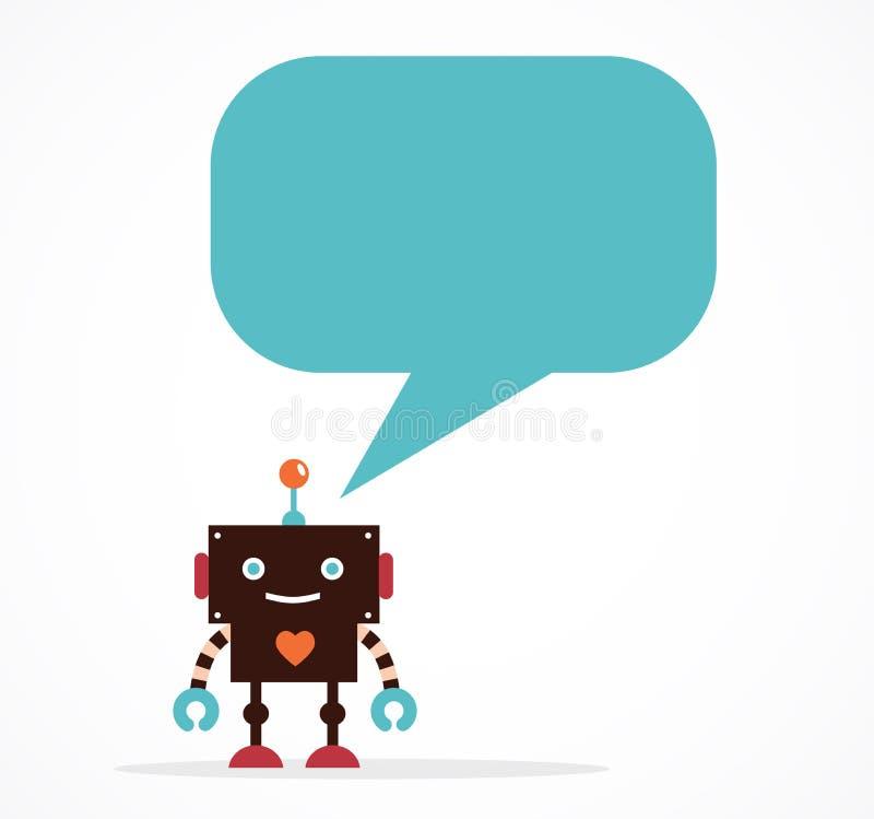 Icônes et caractères mignons de robot illustration stock