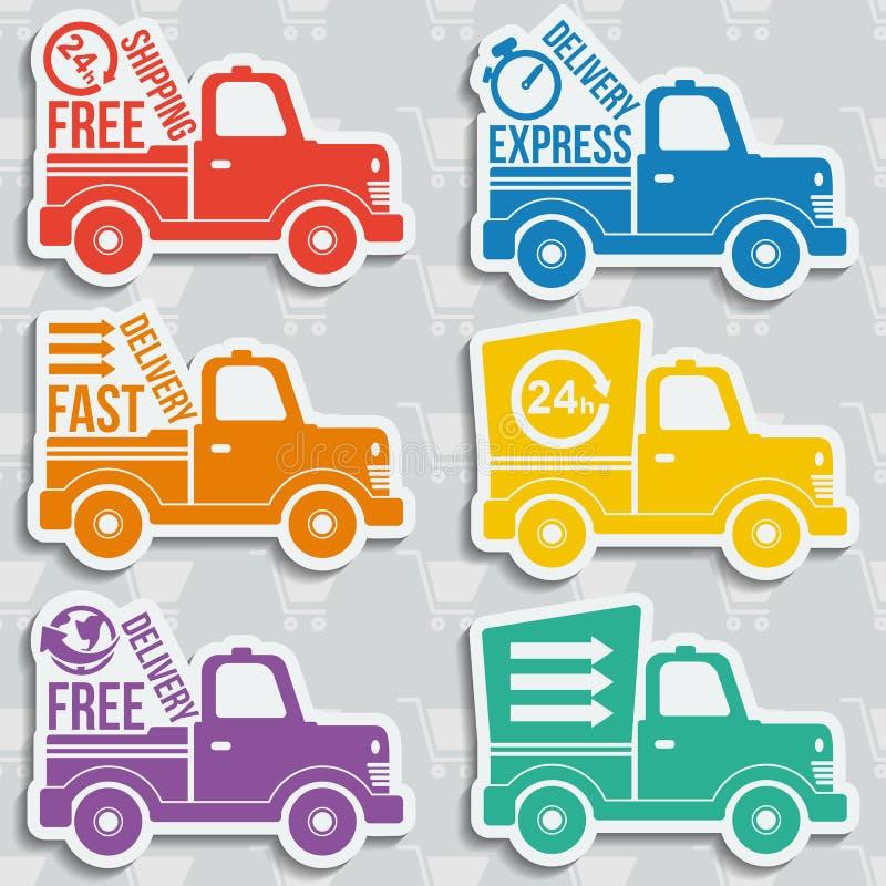 Icônes gratuites de concept de la livraison réglées illustration de vecteur