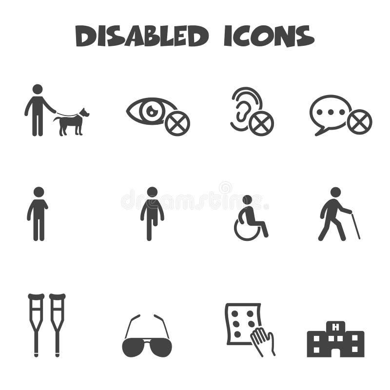Icônes handicapées illustration stock