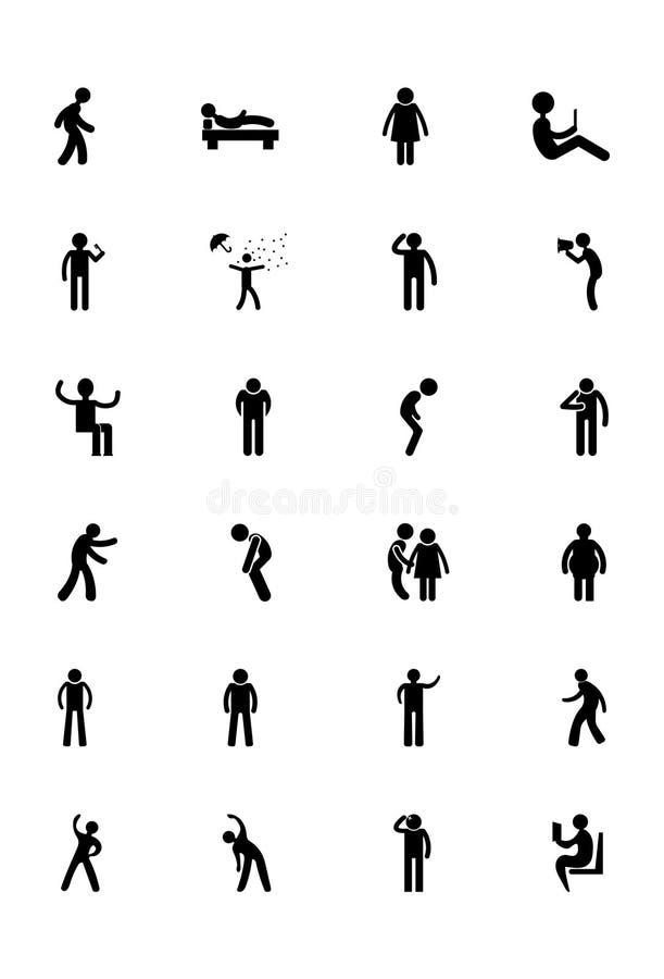 Icônes humaines 14 de vecteur illustration de vecteur