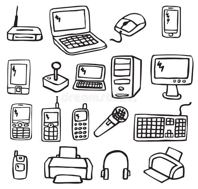 Icônes - l'électronique 3 illustration stock